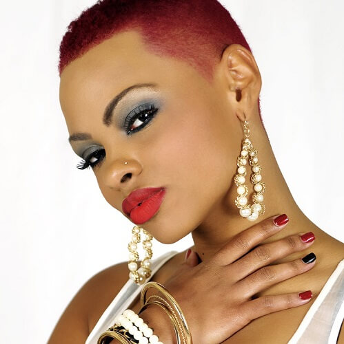 Hairstyle For Big Head Girl: 50 Wicked Shaved Hairstyles For Black Women