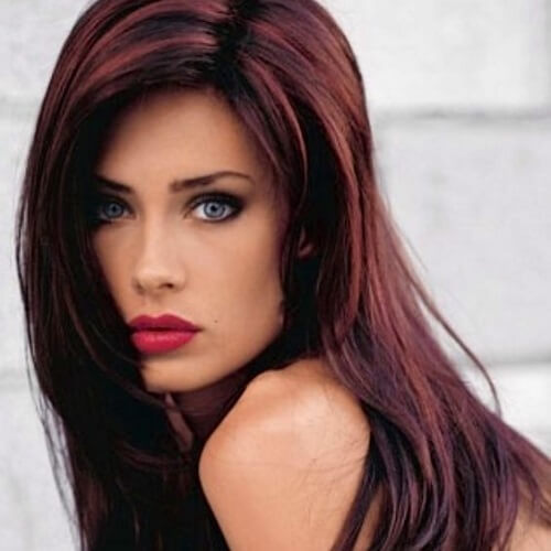 chestnut brown hair with auburn highlights hairs picture