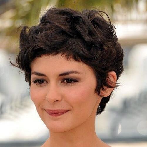 audrey tautou short hair fringe bangs