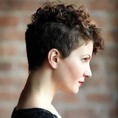 Balayage Curly Pixie Cut