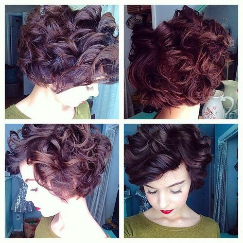 big curls and short hair