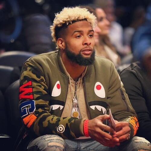 Odell Beckham with bleached hair