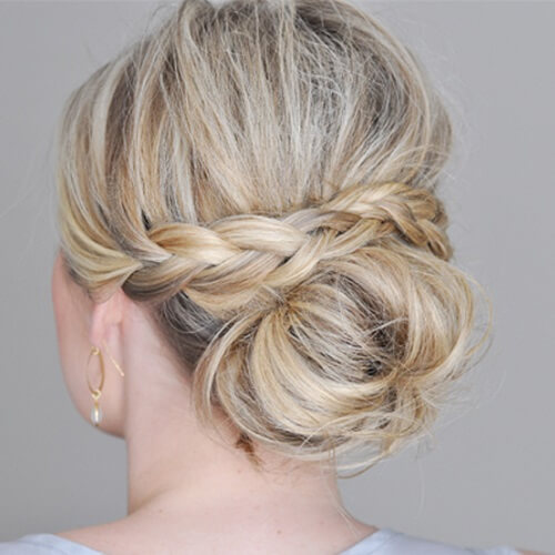Braid Over Chignon