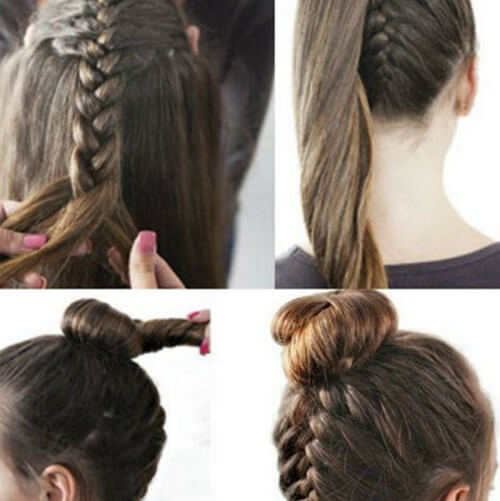 Braid Up Bun