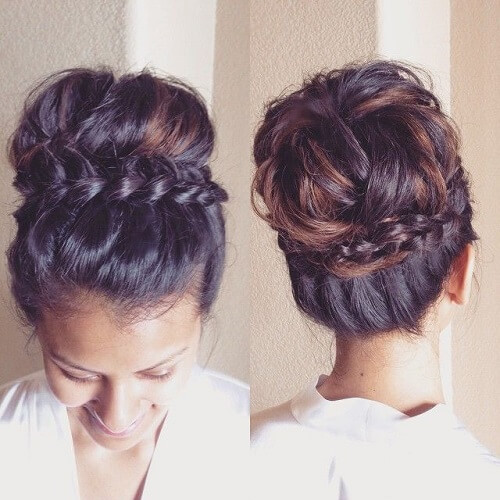 Braid Wrap Around Crown Bun