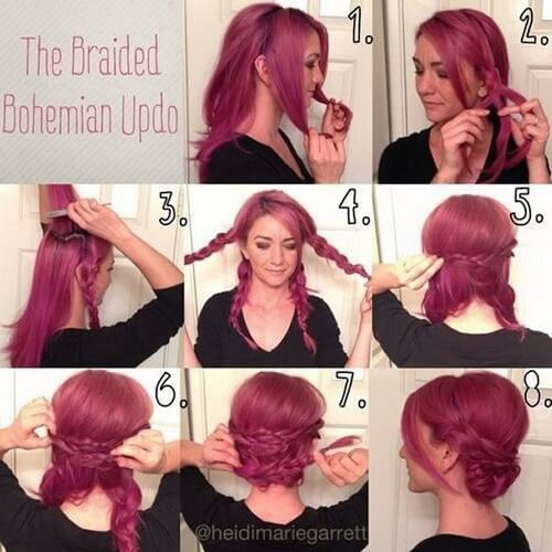 Braided Bohemian Updo