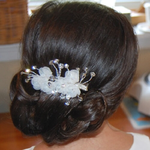 Chignon and Flower Clip