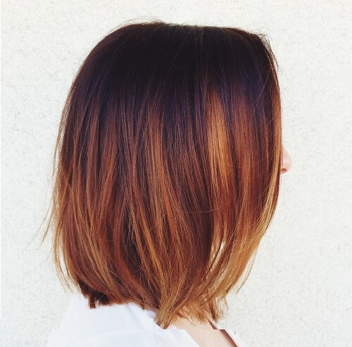 Chestnut brown hair with highlights