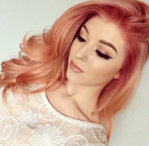 pink strawberry blonde ombre