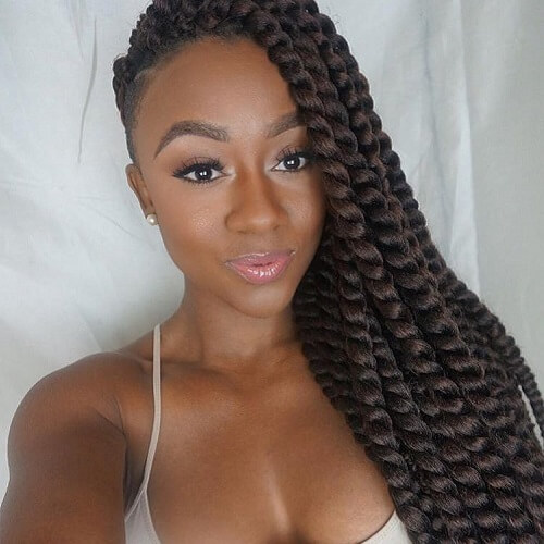 Crochet Twists and Shaved Side