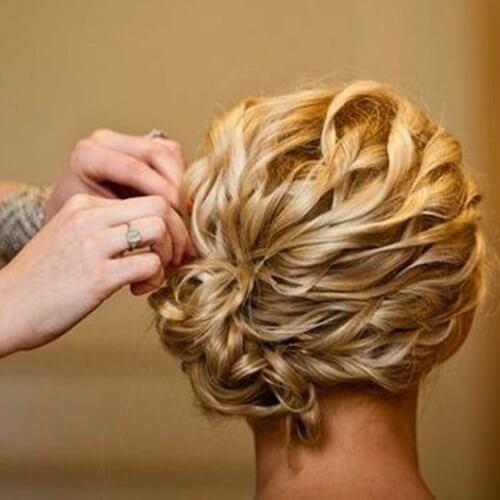 Curly Side Chignon