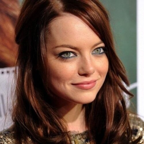 Chestnut Brown Hair Color Blue Eyes
