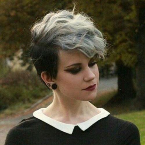 dark roots silver hair