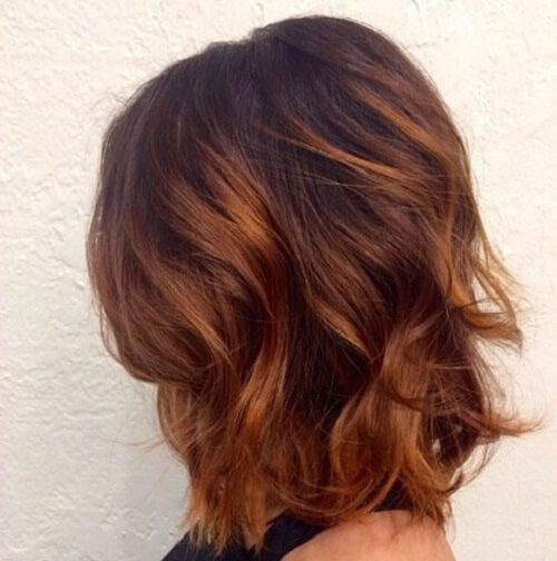 chestnut hair with subtle highlights