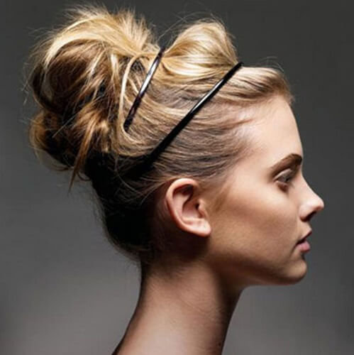 bun with double hairband