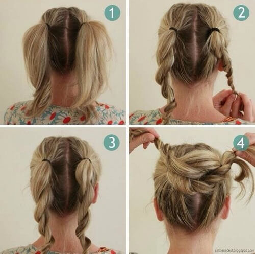 Double Twisted Braid Bun