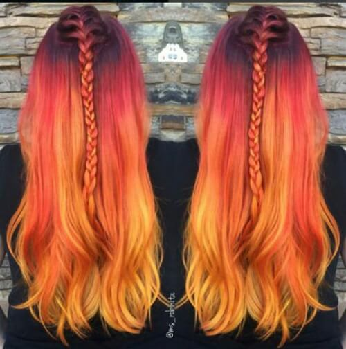 purple pink orange yellow ombre