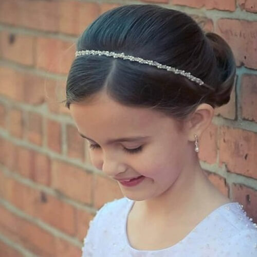 Elegant Tiara and Chignon