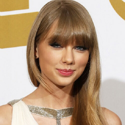 taylor swift long bangs