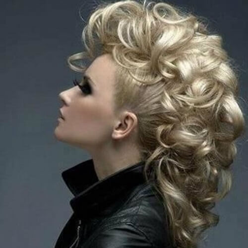 blonde faux hawk