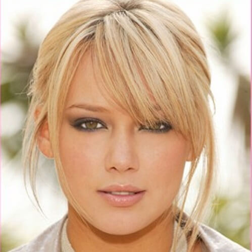 hilary duff with feathered bangs