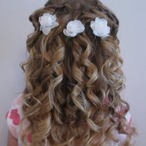 First Holy Communion Hairstyles Curly Hair