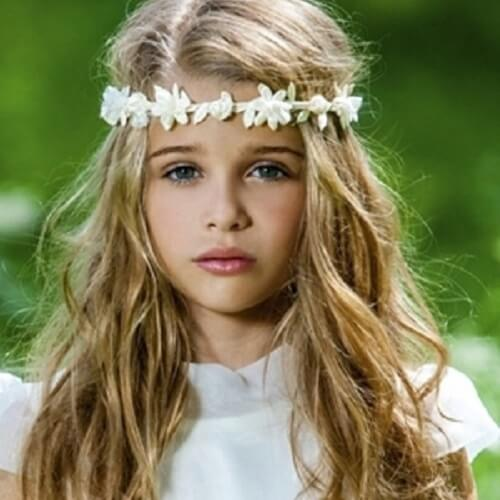 Flower Crown for a Little Girl's First Communion