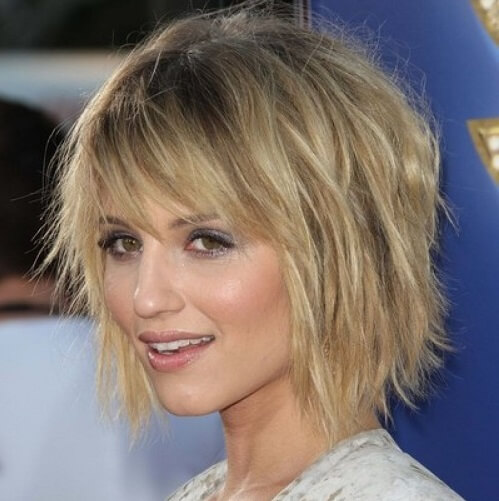choppy bob haircut with bangs