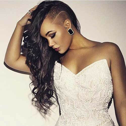 Half Shaved Hairstyle for Black Women