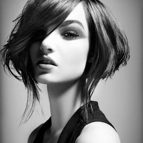 high fashion asymmetrical bob