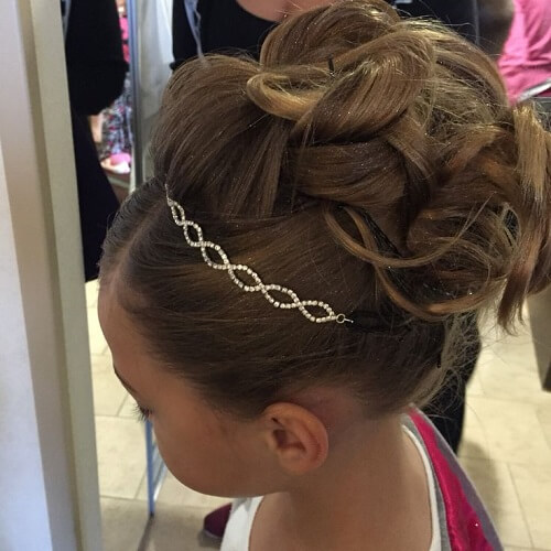 Intricate Updo with Crystal Headband