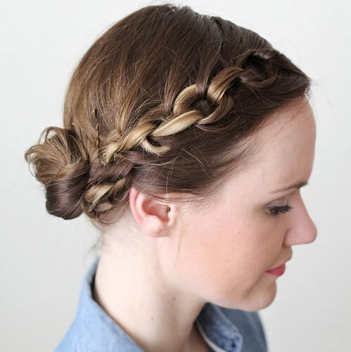 Linked Crown Low Bun