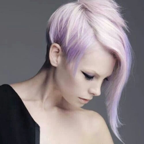 pastel purple pixie haircut