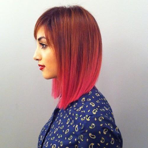 copper and pink ombre