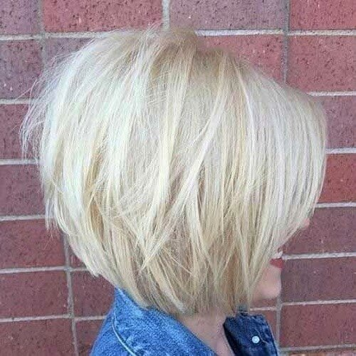 Platinum Bob Haircut for Fine Hair