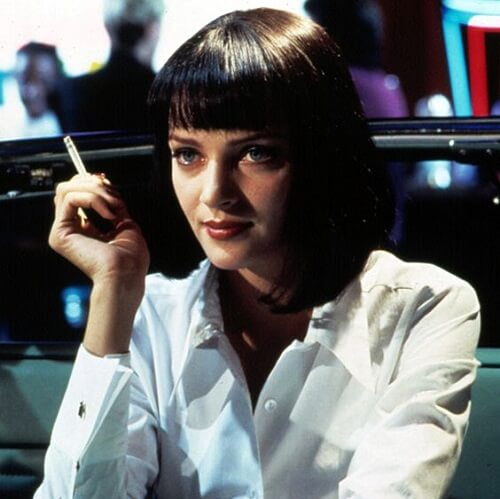 uma thurman hairstyle in pulp fiction