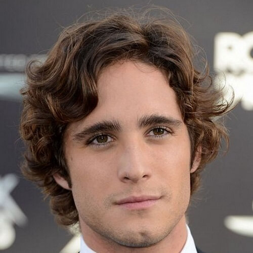 man with wavy hair with side part