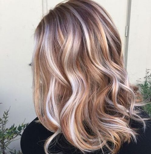 silver hair copper highlights