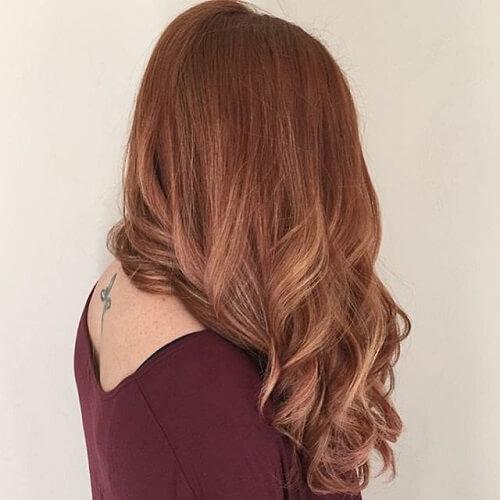 light brown wavy hair