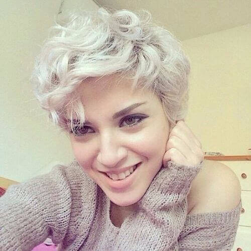 Thick Hair Curly Pixie Cut
