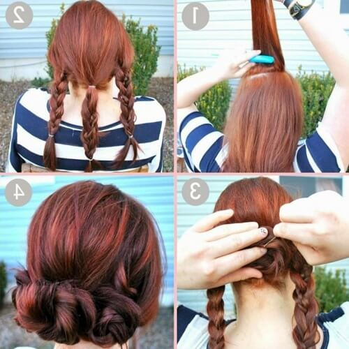 Triple Braid Bun