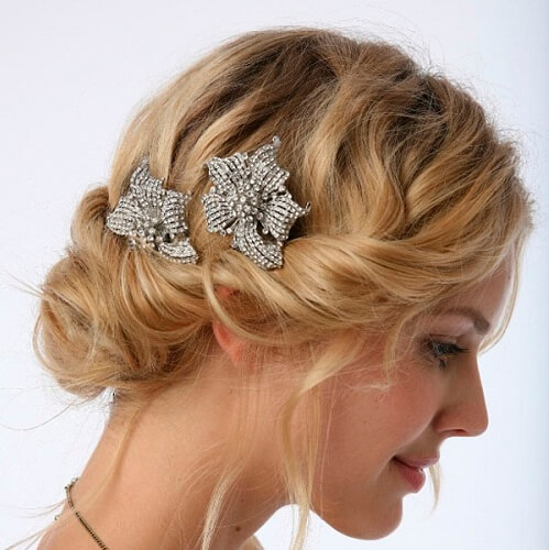 Twisted Chignon with Accessories