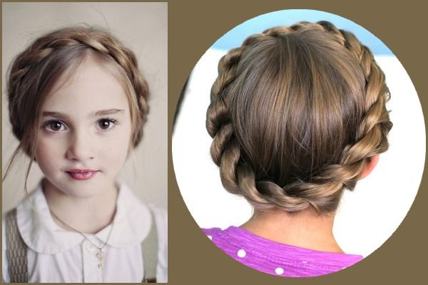 Crown Braid hairstyle for little girls
