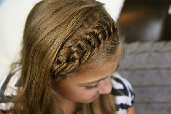 girl with braid plait