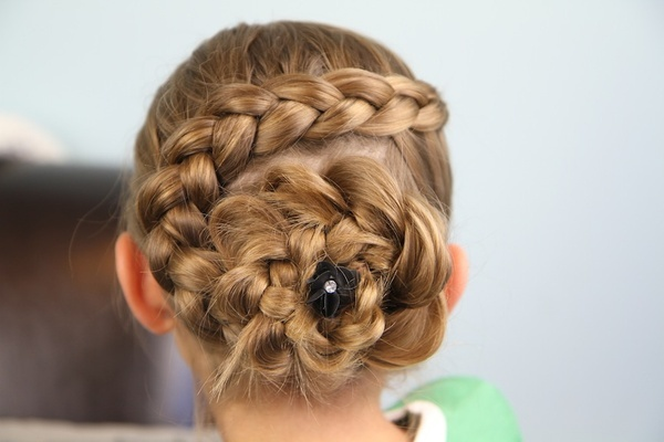 spiral braid for little girl