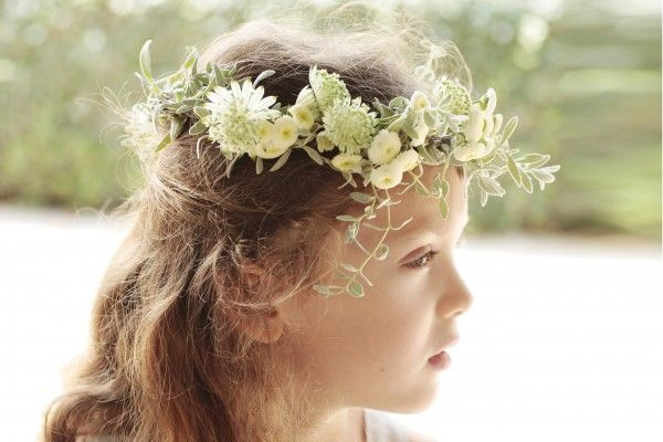 natural flower crown for first communion
