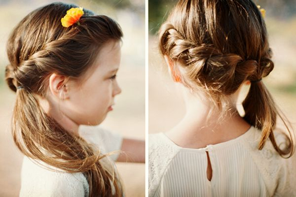 summery hairstyle for little girls