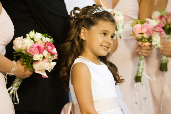 girl with tiara on first communion