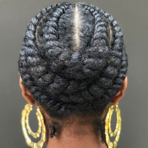 Layered Crown Flat Twists