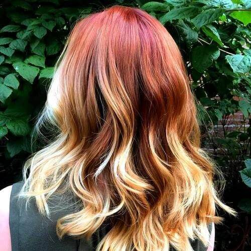 Red-Blonde-Ombre-Highlights